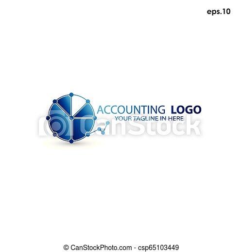 Abstract vector logo accounting - csp65103449