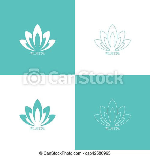 Abstract vector logo element. - csp42580965