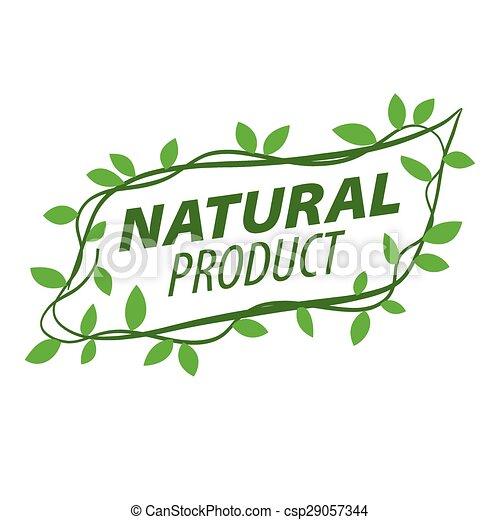 abstract vector logo of a vegetative ornament - csp29057344