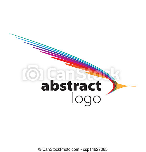 abstract vector logo spectrum curved sheets - csp14627865