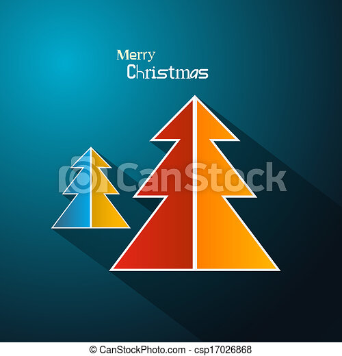 Abstract Vector Merry Christmas Background - csp17026868