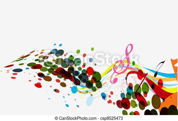 abstract vector music wave line  - csp8525473