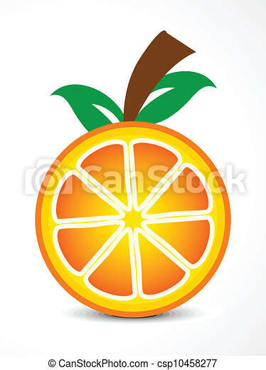 abstract vector orange fruit vector - csp10458277
