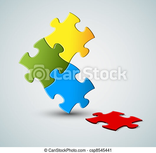 Abstract vector puzzle / solution background - csp8545441