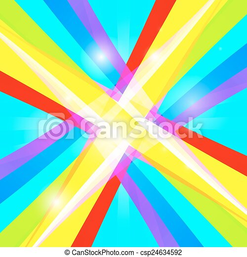 Abstract Vector Retro Colorful Background - csp24634592