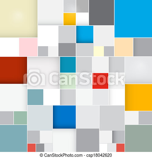 Abstract Vector Retro Square Background  - csp18042620