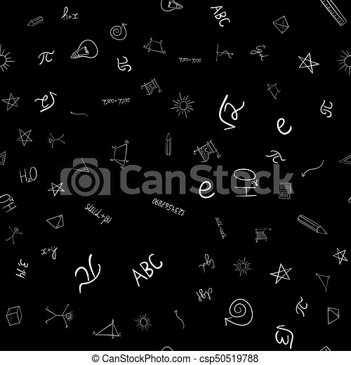 abstract vector school doodles seamless pattern - csp50519788
