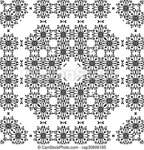 Abstract vector seamless pattern. - csp30606165