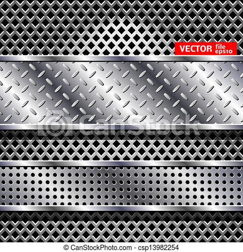 Abstract vector steel background - csp13982254
