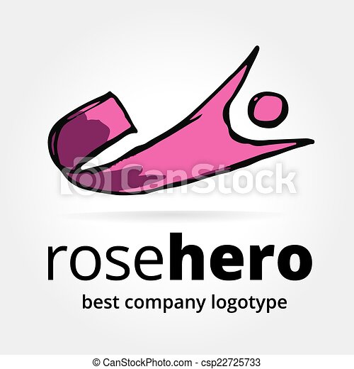 Abstract vector super hero logotype concept isolated on white background - csp22725733