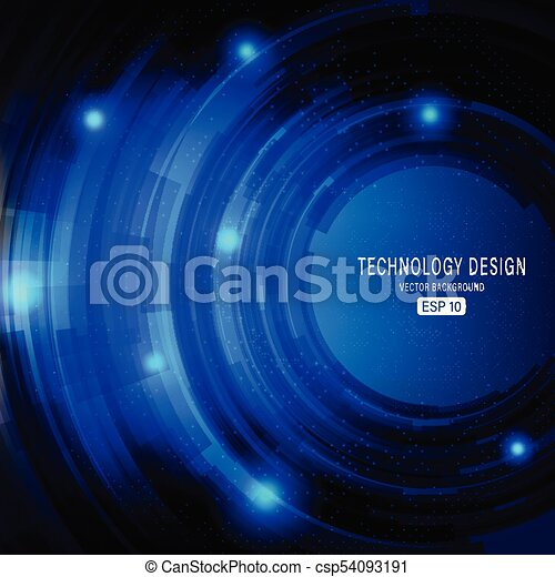 Abstract Vector Technology Background - csp54093191