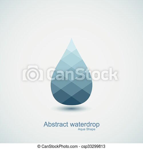 Abstract vector water drop icon - csp33299813