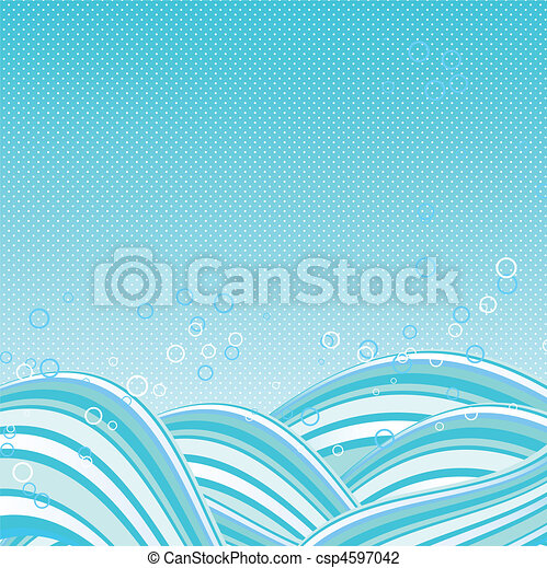 Abstract vector waves background - csp4597042