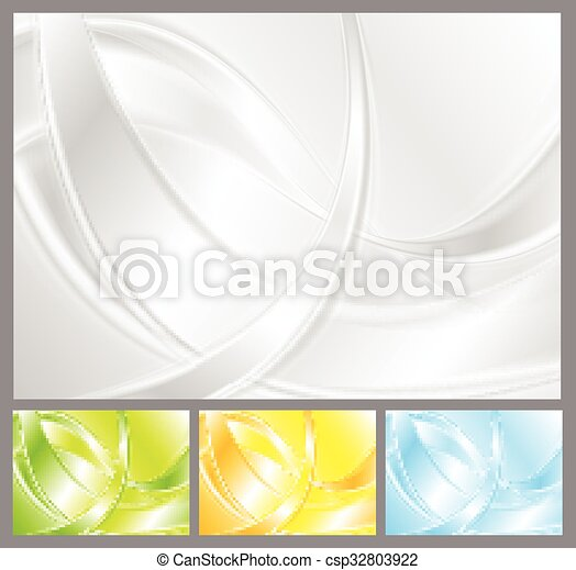 Abstract vector waves collection - csp32803922