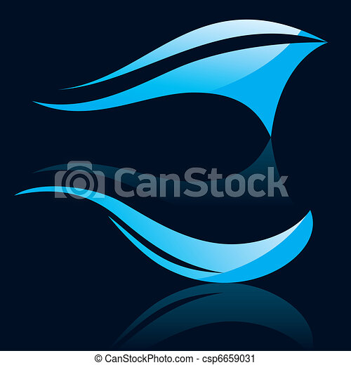 Abstract vector waves - csp6659031