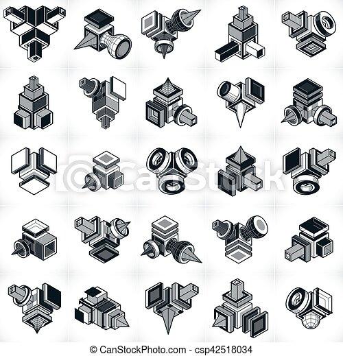 abstract vectors 3d simple geometric eps vectors csp42518034 jpg
