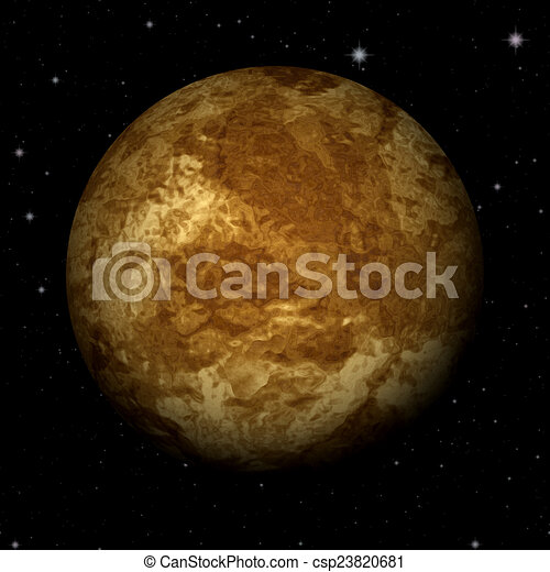 Abstract Venus planet generated texture background - csp23820681