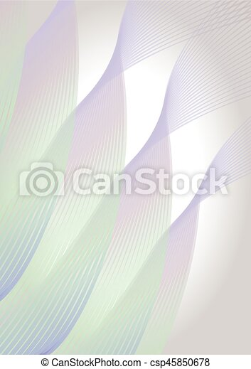 Abstract vertical background in soft pastel colors, diagonal wavy line shapes - csp45850678