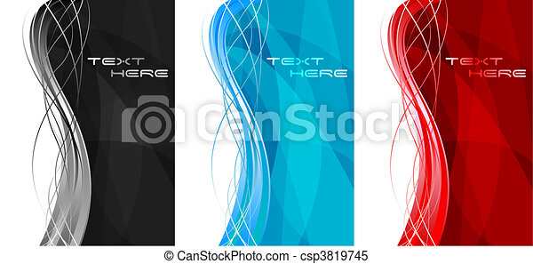 Abstract vertical banners - csp3819745
