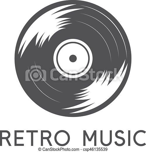 abstract vinyl record simple icon vector design template rh canstockphoto com vinyl record player vector retro vinyl record vector