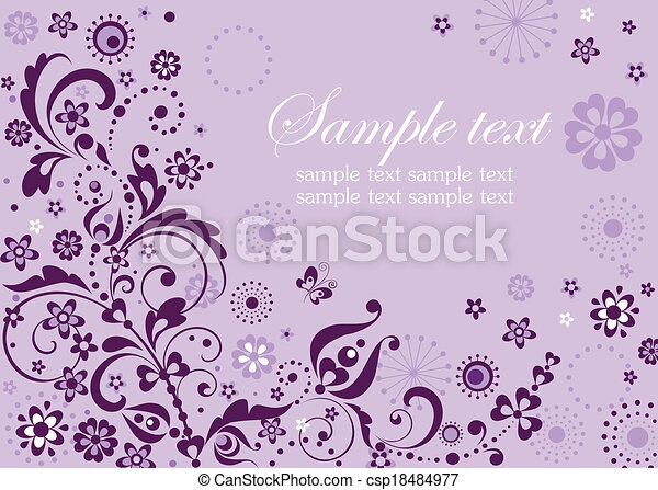 Abstract violet visiting card - csp18484977
