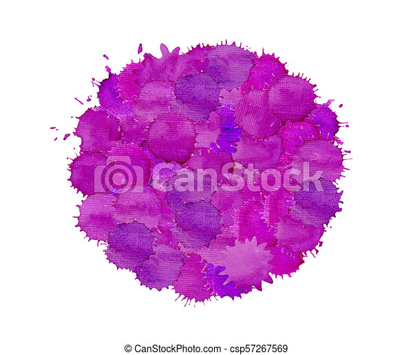 Abstract Violet Watercolor On White Background