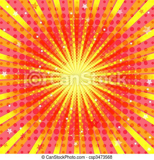 Abstract vivid orange background  - csp3473568