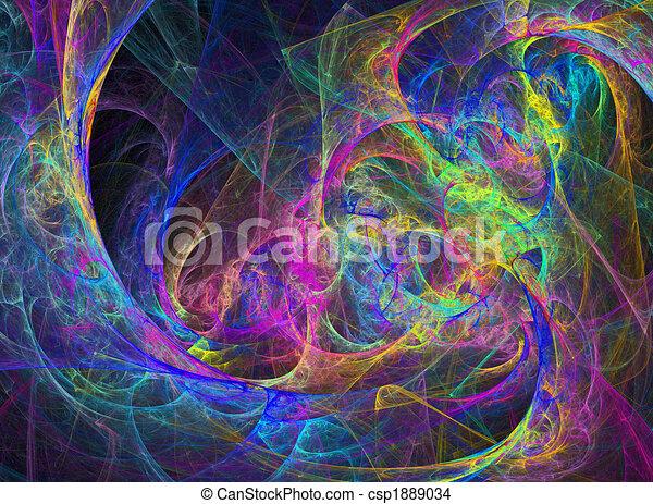 Abstract Vivid Rainbow Design - csp1889034
