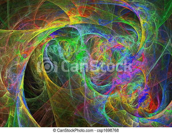 Abstract Vivid Rainbow Design - csp1698768
