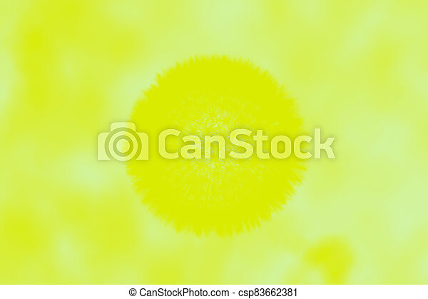 Abstract vivid yellow blurred background with spots - csp83662381
