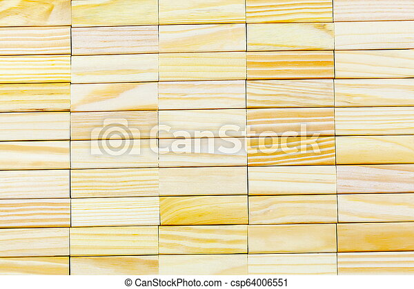 Abstract wall made of wooden blocks - csp64006551