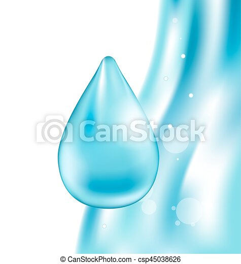 Abstract Water Wavy Background with Drop - csp45038626