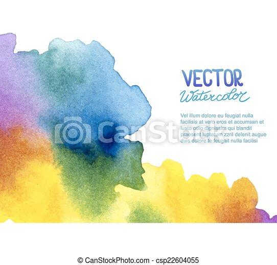 Abstract watercolor background for your design - csp22604055