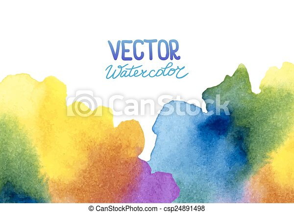 Abstract watercolor background for your design - csp24891498