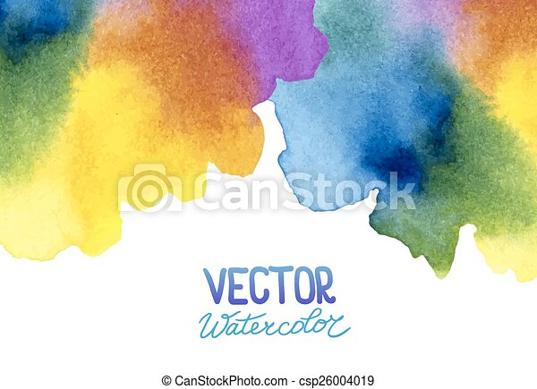 Abstract watercolor background for your design - csp26004019