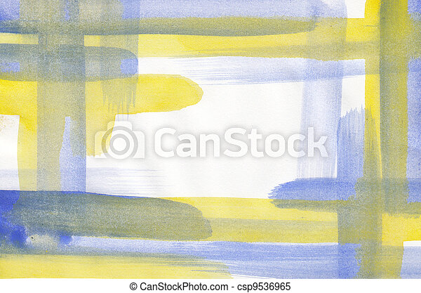 Abstract watercolor frame background - csp9536965