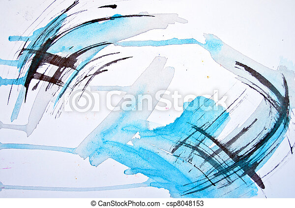 Abstract watercolor hand painted blur background  - csp8048153