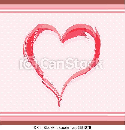 Abstract watercolor heart - csp9881279