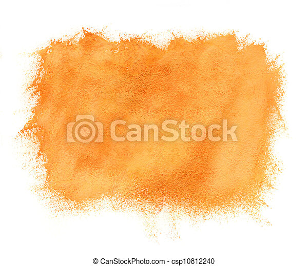 Abstract watercolor orange background - csp10812240