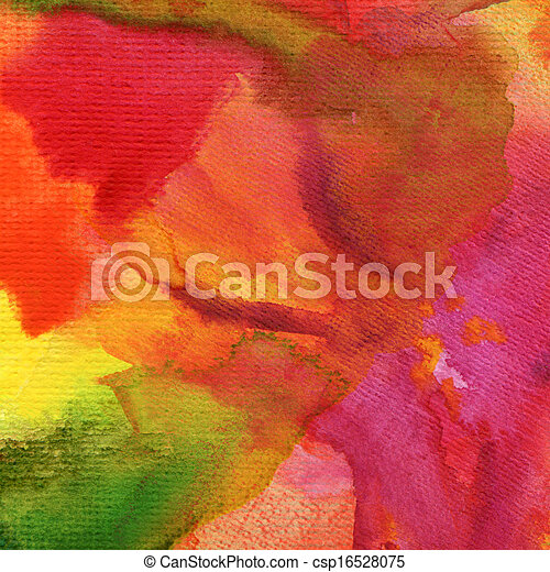 Abstract  watercolor painted background - csp16528075