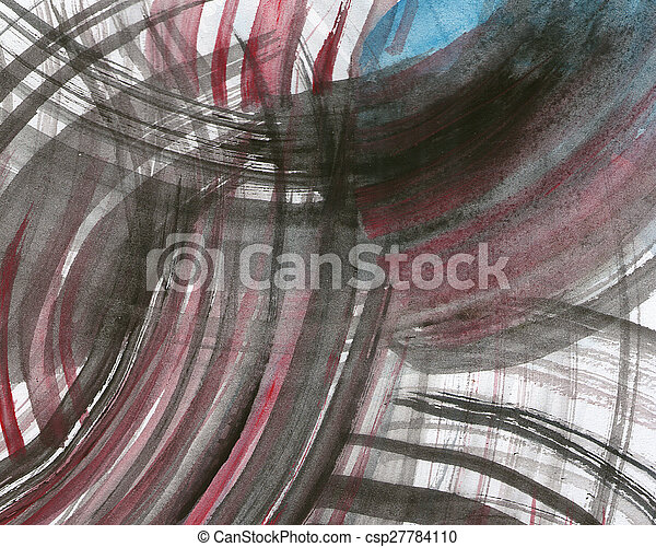 Abstract watercolor painted background - csp27784110
