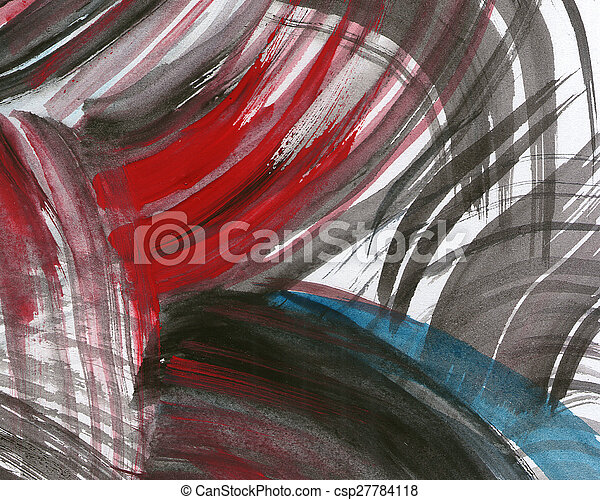 Abstract watercolor painted background - csp27784118