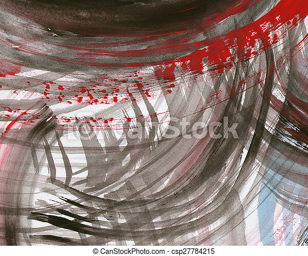 Abstract watercolor painted background - csp27784215