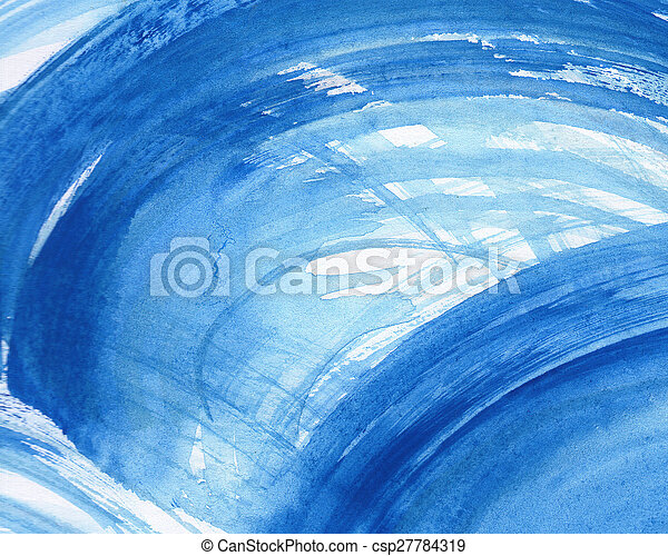 Abstract watercolor painted background - csp27784319