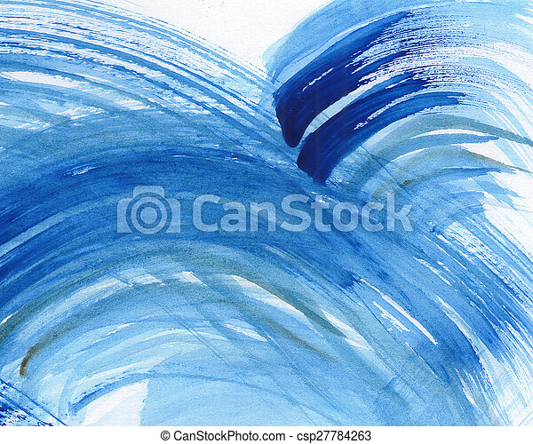 Abstract watercolor painted background - csp27784263