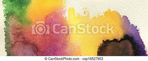 Abstract watercolor painted background - csp16527953
