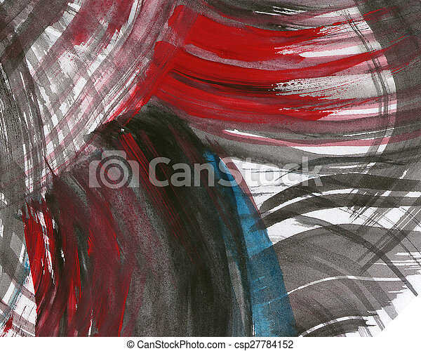 Abstract watercolor painted background - csp27784152