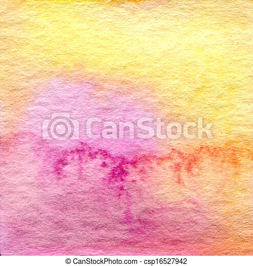 Abstract  watercolor painted background - csp16527942