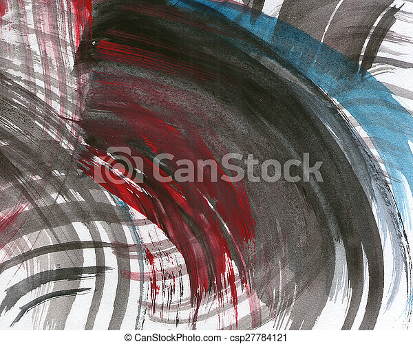 Abstract watercolor painted background - csp27784121