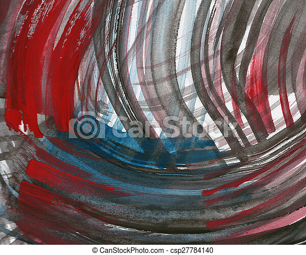 Abstract watercolor painted background - csp27784140